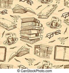 Vintage-Bücher nahtlos.
