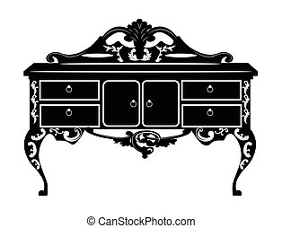Vintage barock reicher Kommode