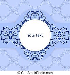 Vintage Card mit Platz für Ihren Text.