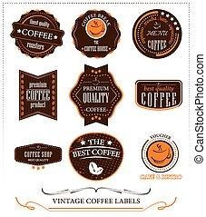 Vintage Coffee Labels.