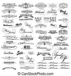 Vintage Designelemente.