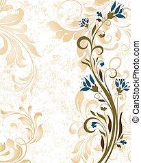 Vintage Einladungskarte mit ornate elegant retro abstraktes Blumendesign