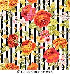 Vintage Floral Background - nahtlose Muster für Design, Druck, Scrapbook - in Vektor.