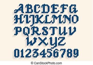 Vintage gestricktes Alphabet