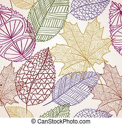 Vintage Herbst hinterlässt nahtloses Muster. EPS10 Akte.