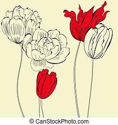 Vintage Hintergrund mit Blumen
