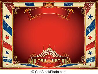 Vintage horizontaler Zirkus Hintergrund mit großer Spitze.