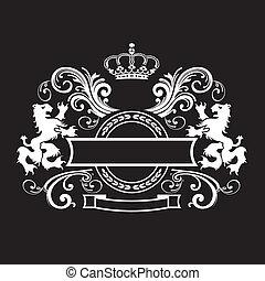 Vintage königlicher Schild