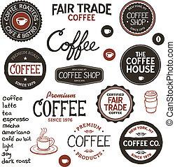 Vintage-Kaffee-Label und Briefing