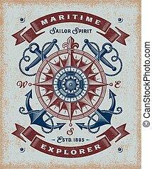 Vintage Maritime Explorer Typographie
