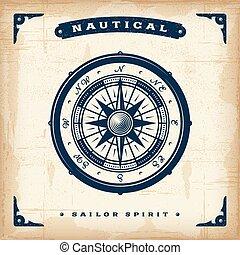 Vintage Nautical Kompass