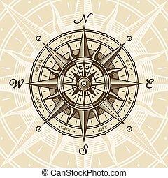Vintage Nautical Kompass stieg