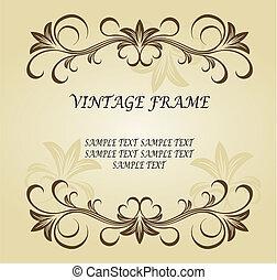 Vintage Rahmen.