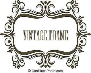 Vintage Rahmen mit Verschönerung.