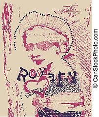 Vintage Rostfrau, Zeitungsposter