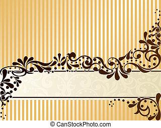 Vintage Sepia-Banner, horizontal