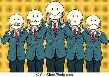 Vintage Set von Smiley Gesicht Emoji Leute