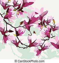 Vintage Spring Watercolor Hintergrund