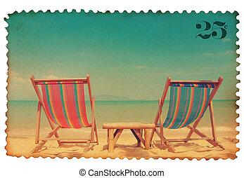 Vintage stilisierte Briefmarken.