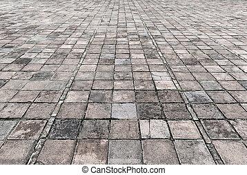 Vintage Stone Street Bebauung Textur.