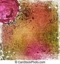 Vintage Tapete Hintergrund mit Rose