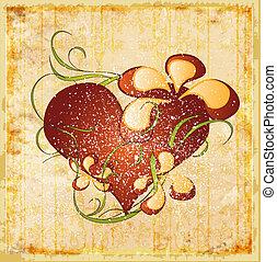 Vintage Valentinsgrußkarte