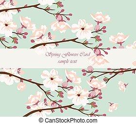 Vintage watercolor Hintergrund mit blühenden Blumen