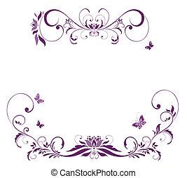 Violette Blumengrenze.