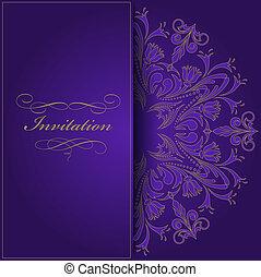 Violette Einladung.