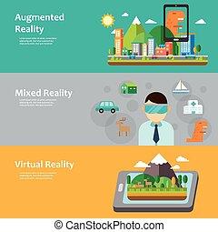 Virtual Reality Konzept Sammlung.