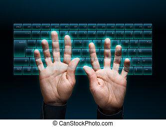 Virtuelle Tastatur.