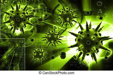 virus, grippe