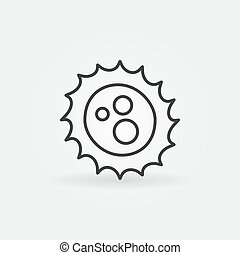 Virus skizziert Vektorkonzept Icon.