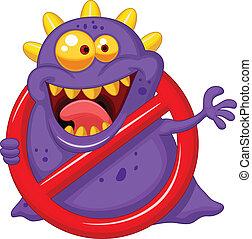 Virus stoppen - lila Virus in Rotal