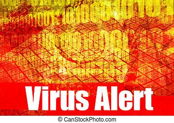 Virus-Warnmeldung.