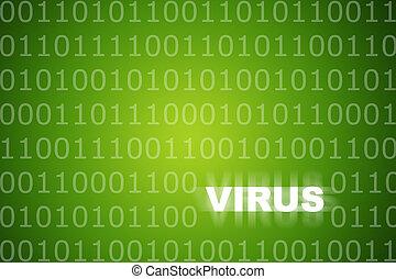Viruswarnung grüner abstrakter Hintergrund