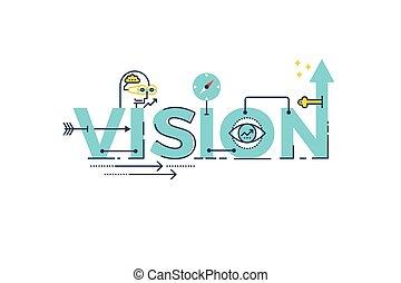 Vision-Wortschreiben.