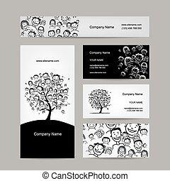 Visitenkarten Design, Leute Baum