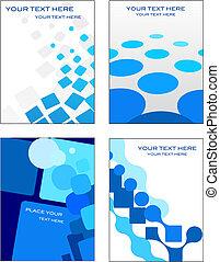 Visitenkarten mit mosaischem Hintergrund