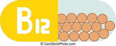 Vitamin B12 Pillen isoliert auf weißem Hintergrund