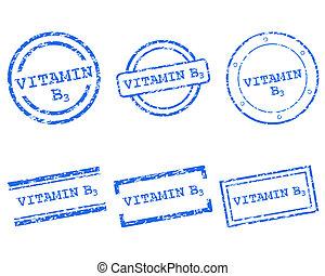 Vitamin B3 Briefmarken