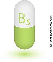 Vitamin B5 Tablettenkapsel Icon .