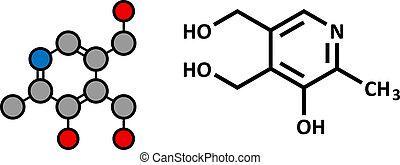 Vitamin B6 (Pyridoxin) Molekül.