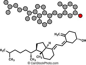 Vitamin D (D3, Cholecalciferol, Toxiferol) Molekül.