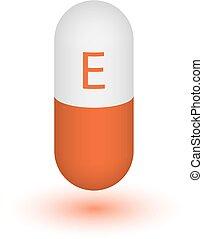 Vitamin E Tablettenkapsel Icon .