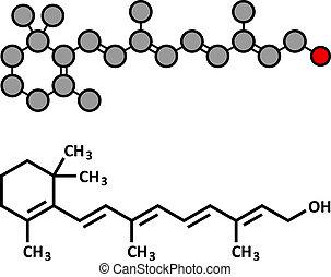 Vitamin ein (Retinol) Molekül.