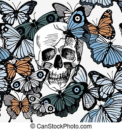 vlinders, totenschädel