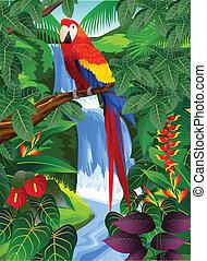 Vogel im tropischen Wald