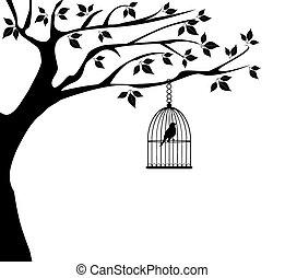 Vogelkäfig.