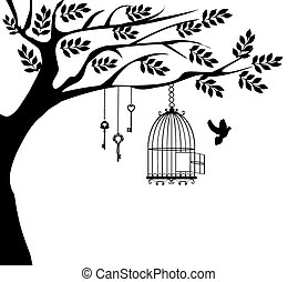 Vogelkäfigbaum Taube.